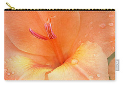 Tangerine Gladiola Carry-all Pouch