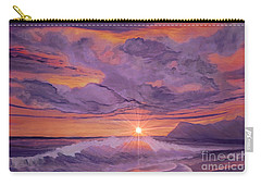 Carry-all Pouch featuring the painting Tangerine Sky by Holly Martinson