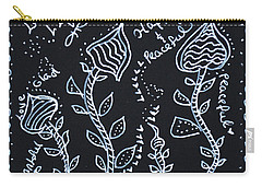 Tangle Flowers Carry-all Pouch