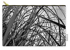 Carry-all Pouch featuring the photograph Tangled Grass by Susan Capuano