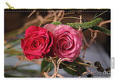 Carry-all Pouch featuring the photograph Tangled On Driftwood by Diana Mary Sharpton