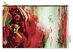 Carry-all Pouch featuring the painting Tango Dance 45g by Gull G