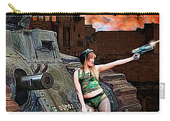 Tank Girl In Action Carry-all Pouch