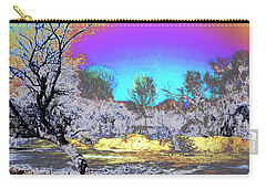Tanque Verde Wash Abstract Carry-all Pouch by M Diane Bonaparte