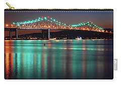 Tappan Zee Refelctions Carry-all Pouch by James Kirkikis