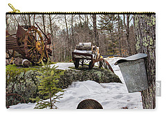 Tapping A Maple Sugar Tree Carry-all Pouch by Betty Pauwels