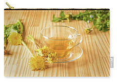 Carry-all Pouch featuring the photograph Taraxacum Tisane by Traven Milovich