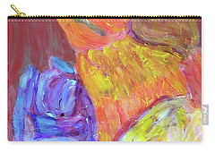 Carry-all Pouch featuring the painting Tarella Napping With Merline by Donald J Ryker III