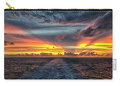 Carry-all Pouch featuring the photograph Tasman Sea Sunset by Bill Barber