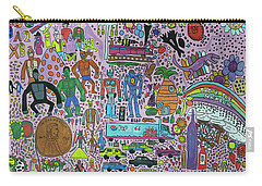 Carry-all Pouch featuring the painting Taste The Rainbow by Artists With Autism Inc
