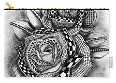 Tattoo Rose Greyscale Carry-all Pouch