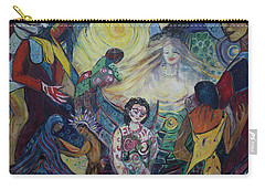 Tattooed Man  Carry-all Pouch by Avonelle Kelsey