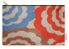 Carry-all Pouch featuring the mixed media Taupe Ring Pattern by Christina Rollo