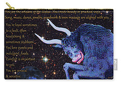 Taurus Birthday Zodiac Astrology Carry-all Pouch