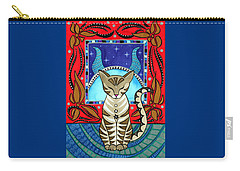 Taurus Cat Zodiac Carry-all Pouch