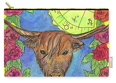 Carry-all Pouch featuring the painting Taurus by Cathie Richardson