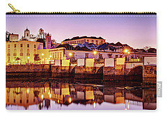 Carry-all Pouch featuring the photograph Tavira Reflections - Portugal by Barry O Carroll