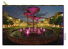 Tcu Frog Fountain Carry-all Pouch by Jonathan Davison