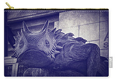 Tcu Horned Frog Purple Carry-all Pouch by Joan Carroll