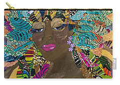Carry-all Pouch featuring the tapestry - textile Tdot Caribana by Apanaki Temitayo M