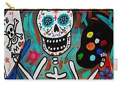 Te Amo Painter Dia De Los Muertos Carry-all Pouch by Pristine Cartera Turkus