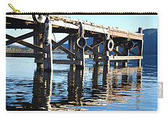 Carry-all Pouch featuring the photograph Te Anau Pier by Jocelyn Friis