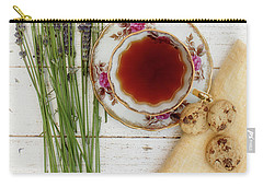Carry-all Pouch featuring the photograph Tea And Cookies Still Life by Rebecca Cozart