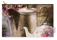 Carry-all Pouch featuring the painting Tea And Grapes by Mo T