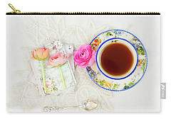 Tea And Journals With Ranunculus Carry-all Pouch