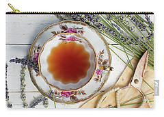 Carry-all Pouch featuring the photograph Tea And Lavender 3 by Rebecca Cozart