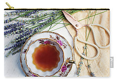 Carry-all Pouch featuring the photograph Tea And Lavender by Rebecca Cozart