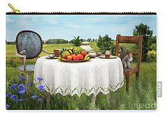 Carry-all Pouch featuring the digital art Tea For Two by Jutta Maria Pusl