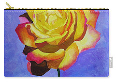 Carry-all Pouch featuring the painting Tea Rose by Rodney Campbell