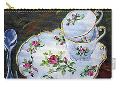 Tea Set Carry-all Pouch by Alexandra Maria Ethlyn Cheshire