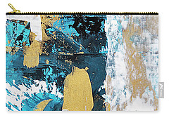 Carry-all Pouch featuring the painting Teal Abstract by Christina Rollo