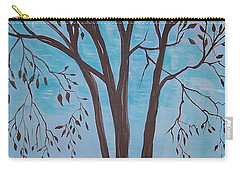 Teal And Brown Carry-all Pouch by Leslie Allen