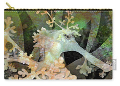 Teal Leafy Sea Dragon Carry-all Pouch