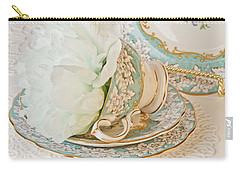 Teal Peony For Real  Carry-all Pouch
