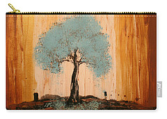 Teal Turquoise Tree Carry-all Pouch