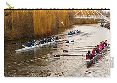 Teams Of Rowers On River Cam Carry-all Pouch