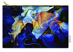 Carry-all Pouch featuring the painting Tears In My Garden by Hanne Lore Koehler