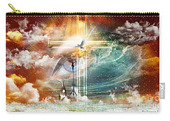 Carry-all Pouch featuring the digital art Tears To Triumph by Dolores Develde