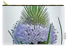 Teasel On White Carry-all Pouch