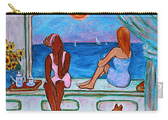Carry-all Pouch featuring the painting Teatime I by Xueling Zou
