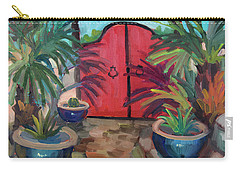 Carry-all Pouch featuring the painting Tecate Garden Gate by Diane McClary