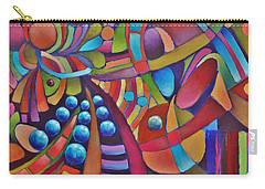 Technicolor Bloom Carry-all Pouch by Jason Williamson