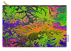 Technicolor Leaves Carry-all Pouch by Patricia Griffin Brett