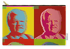 Carry-all Pouch featuring the digital art Ted Kennedy by Jean luc Comperat