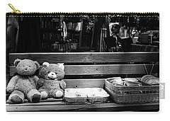 Teddy Bear Lovers On The Bench Carry-all Pouch