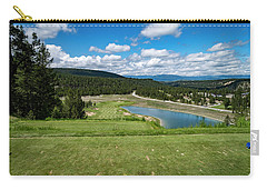 Carry-all Pouch featuring the photograph Tee Box With As View by Darcy Michaelchuk